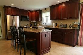 Cherry kitchen cabinets Paint Cherry Kitchen Cabinets In Stock Kitchens What Youll Find With Cherry Stained Wood Kitchen Cabinets In