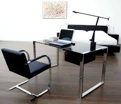 fascinating simple rectangle glass desk with chrome plated iron inside glass and chrome desks for home black gloss rectangle home office