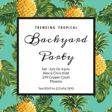 Online Print Invitations Pineapple Print Printable Party Invitation Template Free