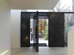 Black Pivot Door Design
