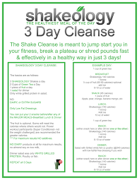 shakeology 3 day cleanse instructions