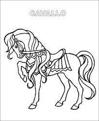Immagini Di Cavalli Da Colorare Scuolissimacom