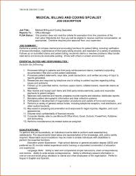 Medical Billing Resume Sample Resume Solagenic