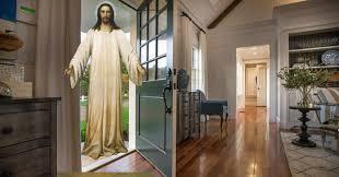 christ in an open door
