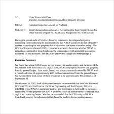 Sample Of Memoranda Sample Accounting Memo 8 Documents In Word Pdf