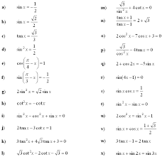 trigonometric equations and inequalities
