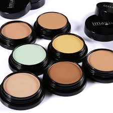 imagic 7 color foundation pact cream flawless cover pore primer concealer 3d face make up palette contouring base makeup set in foundation from beauty