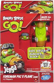 Amazon.com: Angry Birds Go! Jenga Foreman Pig's Plane Game: Toys ...
