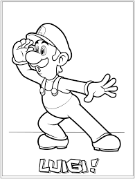 27 Luigi Coloring Pages Compilation Free Coloring Pages Part 3