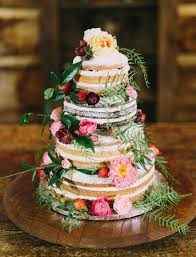 forest wedding cake. this forest-inspired layered naked cake forest wedding