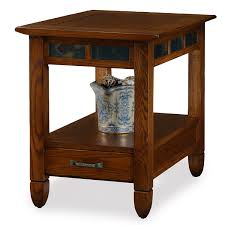 end table. Amazon.com: Slatestone Oak Storage End Table - Rustic Finish: Kitchen \u0026 Dining T