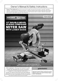 harbor freight miter saw. chicago electric power tools 12\ harbor freight miter saw t