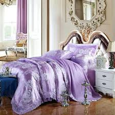 um image for garden style elegant flowers light purple duvet cover set lace border silk cotton