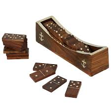 Handmade Wooden Board Games Amazon Wooden Domino Game Open Boat Tray and Pieces 17