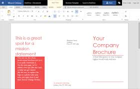 How To Make Your Own Brochure On Microsoft Word How To Create A Trifold Brochure In Word Online