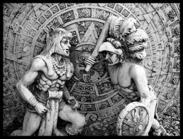 aztec warrior and princess black and white. Contemporary White Free Aztec Warrior And Princess Black White Intended