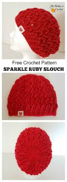 My Hobby Is Crochet Sparkle Ruby Hat Free Crochet Pattern.