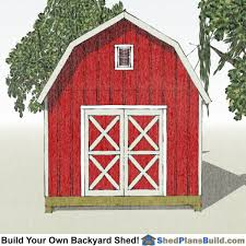 12x20 gambrel shed plans end view
