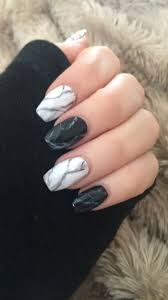 Black And White Nail Designs Acrylic Nails Black And White Marble Nails Marble Acrylic Nails Nails