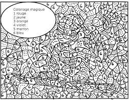 Coloriages Coloriages Magiques A Colorier Allofamille L