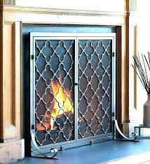 glass gas fireplace doors open or closed cover small coverage