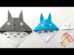 easy totoro bookmark origami red ted art
