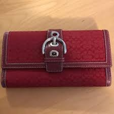 COACH signature red wallet!