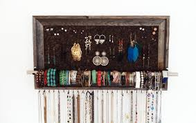 Large Barn Wood Jewelry Organizer Aftertheleavesfall