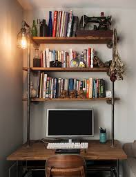 office shelving units. Industrial Pipe Desk With Shelving Unit And Built In Lamp Regard To Shelf Remodel 1 Office Units