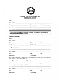 015 Employee Emergency Contact Form Template Tennessee Ulyssesroom