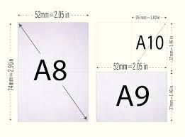 Paper Size A0 A1 A2 A3 A4 A5 A6 A7 A8 A9 A10 How To By Gif