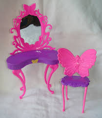details about hot new butterfly dressing makeup table chair bedroom furniture for barbie dolls bedroom furniture barbie ken