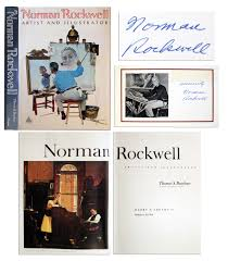 norman rockwell s signature affixed within coffee table book norman rockwell artist and ilrator