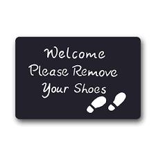 Doormat please remove shoes doormat images : CHARMHOME Custom Machine washable Door Mat Welcome Please Remove ...