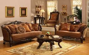 Living Room Classic Decorating Beige Fabric Sofa Traditional Living Room Design White Garage Door