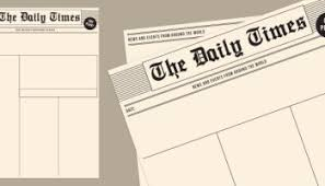 Newspaper Front Page Blank Template Blank Newspaper Templates Paperzip