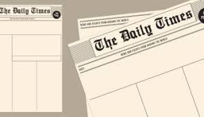 Newspaper Front Template Blank Newspaper Templates Paperzip