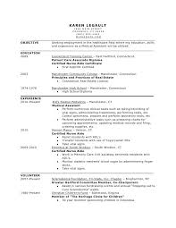 Medical Assistant Resume Objective Examples Sample Resume Letters
