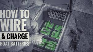 how to install boat batteries and onboard chargers [36v] youtube Charge Battery Bank Wiring Diagram at 3 Bank On Board Battery Wiring Diagram