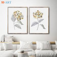 framed set of 2 watercolor hydrangeas flower painting floral drawing minimalist flower wall art botanical wall decor homegoods in painting calligraphy  on botanical wall art set of 2 with framed set of 2 watercolor hydrangeas flower painting floral drawing