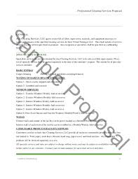 Cleaning Service Templates Proposal For Janitorial Services Template