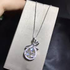 2019 uloveido natural moonstone pendant necklace for women 925 sterling silver 4 4mm wedding gemstone pocket jewelry fn155 from tonic 43 33 dhgate com