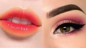 makeup how to apply dual colour lipstick and eye makeup step by step makeup tutorials for party