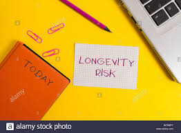 Handwriting Text Writing Longevity Risk Conceptual Photo