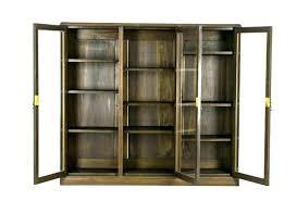 antique glass door bookcase bookcases library with doors bookshelf three oak cabinet bookcas