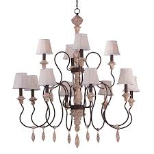 12 light chandelier with shades 39609swshd396