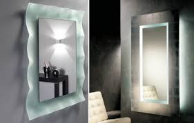 lighted wall mirror. image of: lighted swing arm mirror wall mount f
