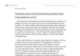 how did victor frankenstein tm s personality change during  document image preview