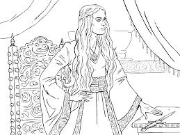 Game Of Thrones Colouring In Page Cersei Game Of Thrones
