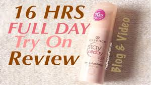 16 hrs long lasting foundation wear test essence stay all day you